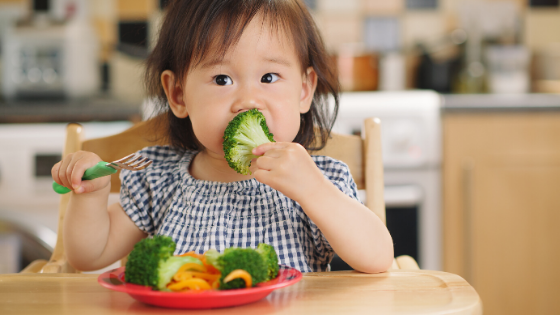 Declining dietary quality may begin as early as 1 year of age