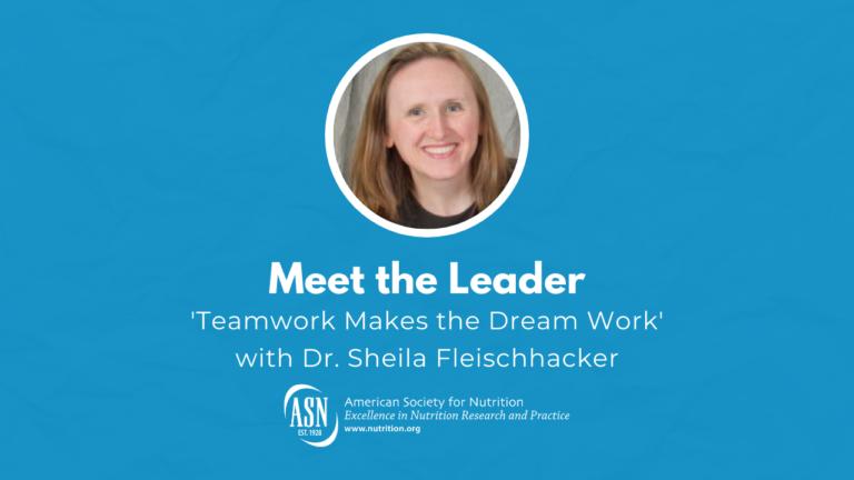'Teamwork Makes the Dream Work' with Dr. Sheila Fleischhacker