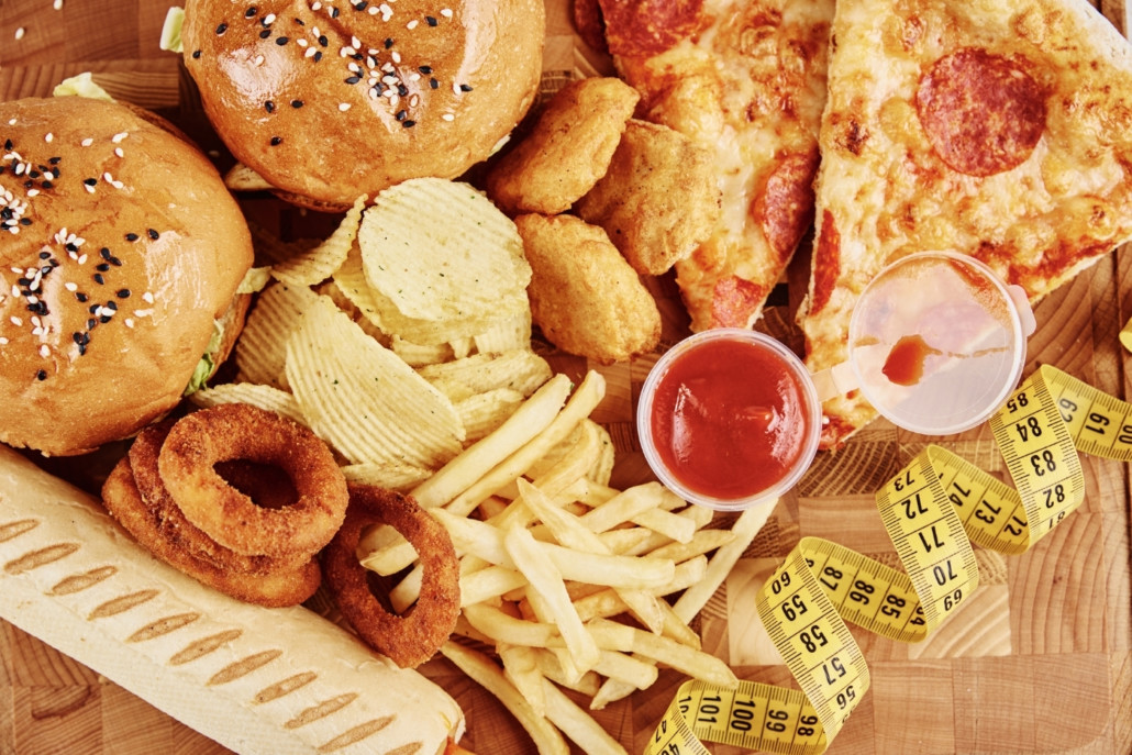 Different Types of Fast-food and Snacks on the Table